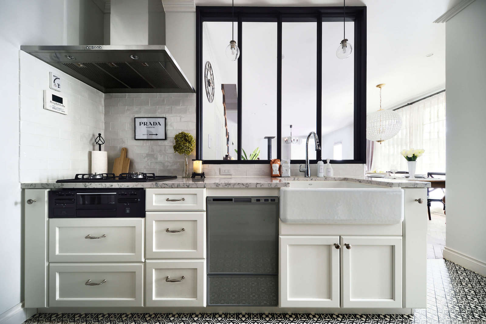 アパルトマン - パリスタイルのキッチン