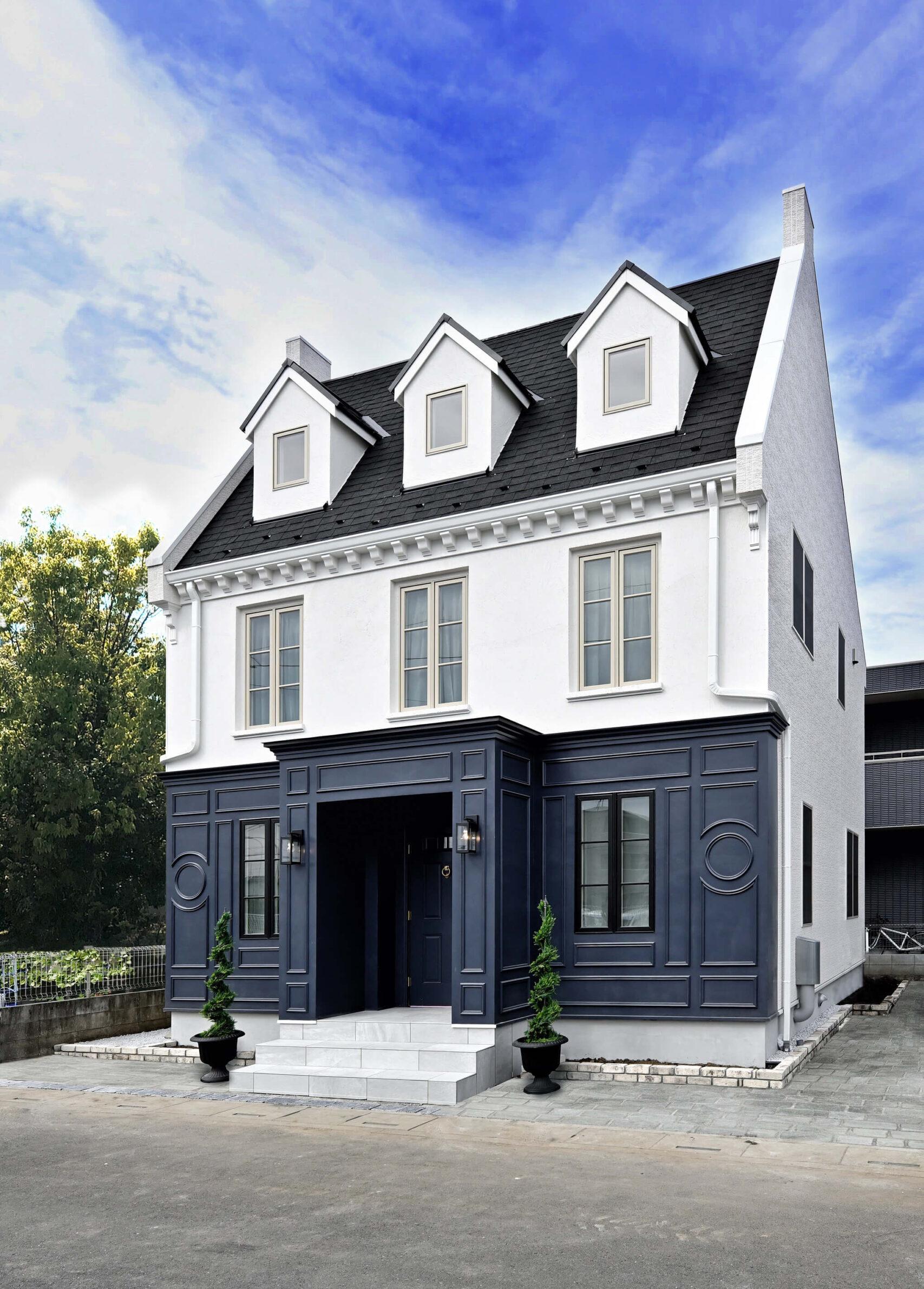 パリスタイルの本格輸入住宅