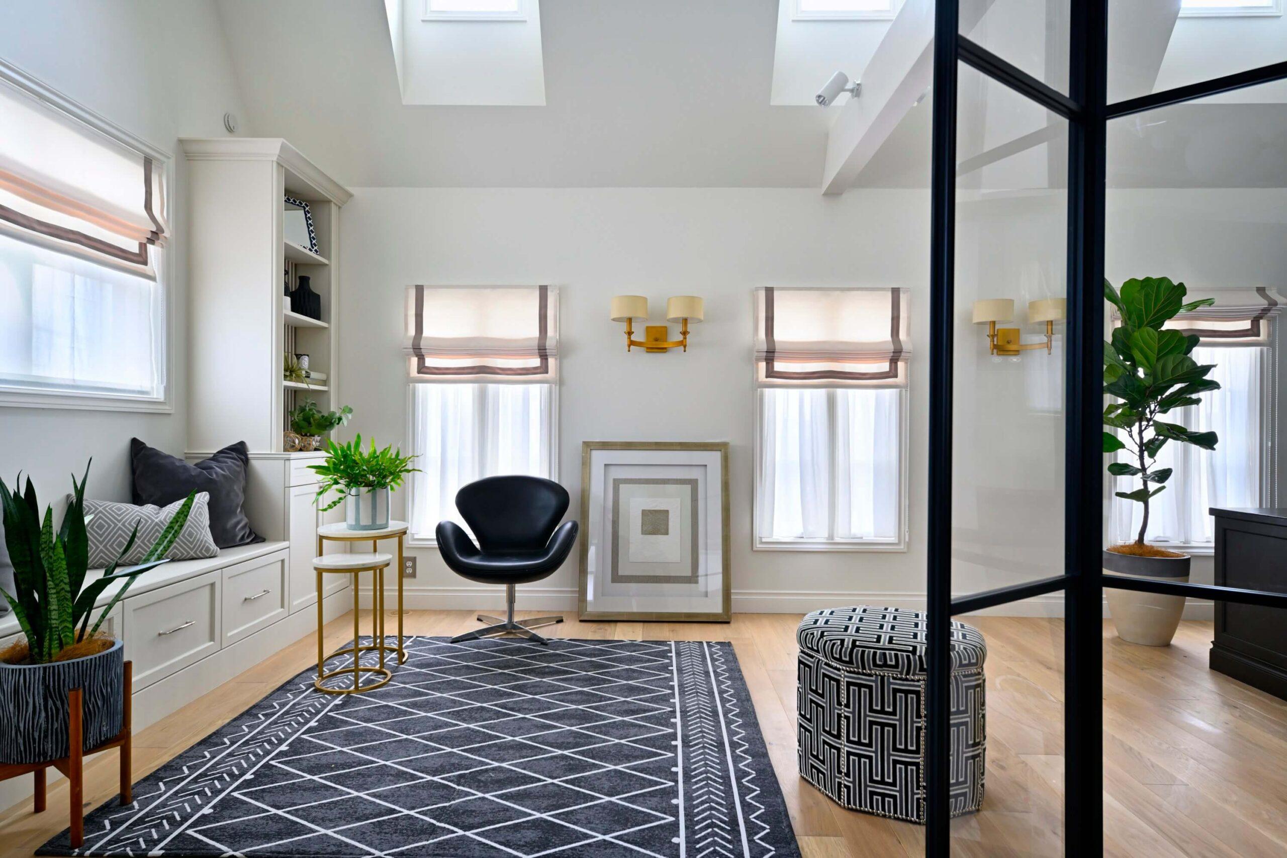 パリスタイルの本格輸入住宅のリビング